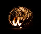 image of fire  - Fire Show Flaming Trails - JPG