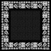 picture of american indian  - Vector ethnic seamless pattern with american indian traditional ornament in black and white colors with dots - JPG