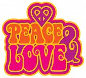 image of peace  - Peace and Love retro - JPG
