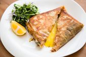 foto of phyllo dough  - Brik egg and tuna turnover - JPG
