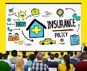 stock photo of trust  - Insurance Policy Help Legal Care Trust Protection Protection Concept - JPG