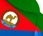 stock photo of eritrea  - 3D Presidential Standard of Eritrea - JPG