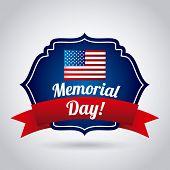 image of memorial  - Memorial Day design over gray background - JPG