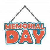 picture of memorial  - Memorial Day design over white background - JPG