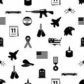 foto of veterans  - veterans day symbols celebration seamless pattern eps10 - JPG