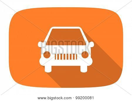 car flat design modern icon with long shadow for web and mobile app
