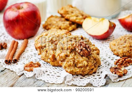 Apples Oats Cinnamon Cookies