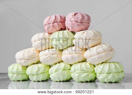 Delicate Multi-colored Marshmallows