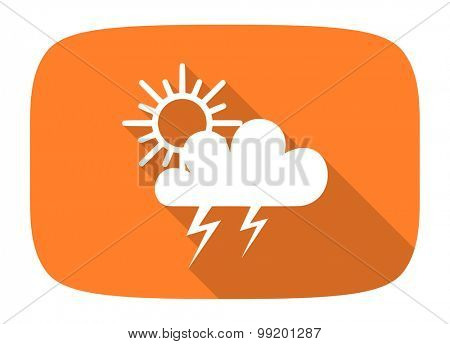 storm flat design modern icon with long shadow for web and mobile app