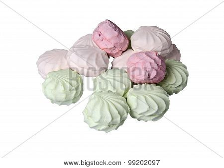 Gentle Multicolored Marshmallows Flows Like