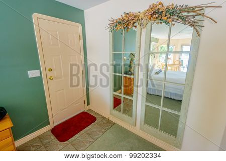 Classic American home entrance interior