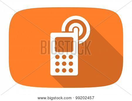phone flat design modern icon with long shadow for web and mobile app
