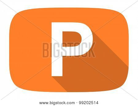 parking flat design modern icon with long shadow for web and mobile app