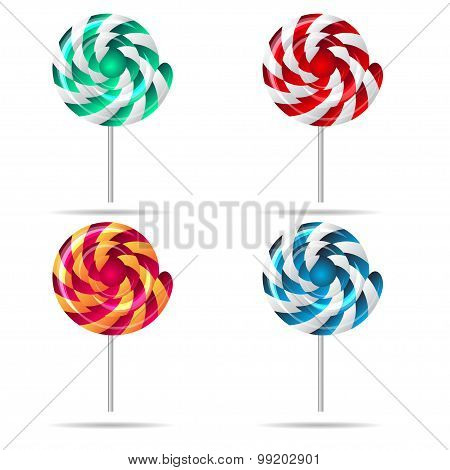 Vector sweets and candies icons set. EPS