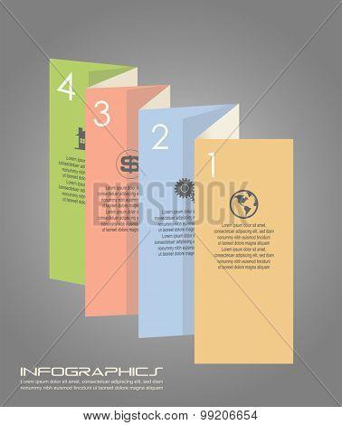 Vector illustration of infographic design element