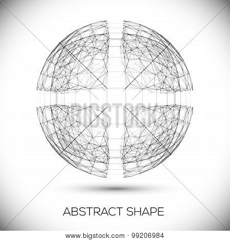 Abstract geometric shape.