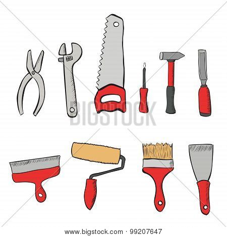 a set tools for the repair of apartments