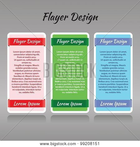 a set of three templates for printed products