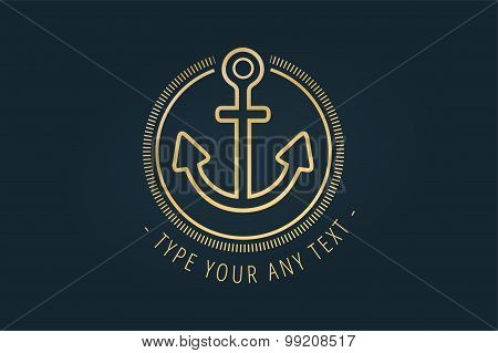 Anchor vector logo icon. Sea, vintage or sailor and sea symbol