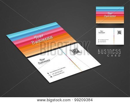 Creative professional business or visiting card design with front and back side presentation.