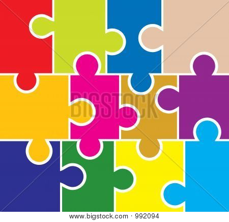 Puzzle Background, Elements For Design, Vector
