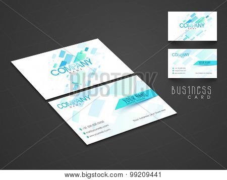 Creative professional business card set for corporate sector.