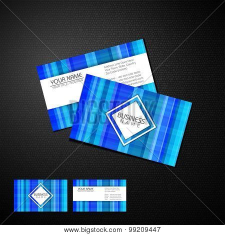 Shiny professional business or visiting card design with front and back side presentation.