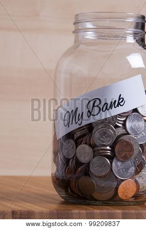 Cash Jar Filled For My Bank