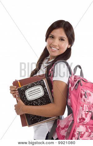 Friendly Hispanic College Student