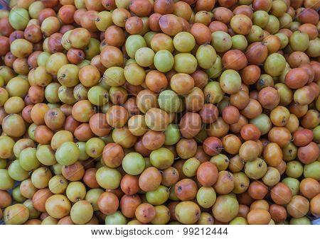 Monkey Apple Fruits In Market.