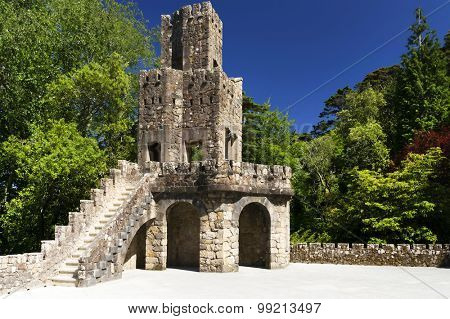 QUINTA DA REGALEIRA - SINTRA - PORTUGAL, June 23, 2015: one of the principal tourist attractions of Sintra, surrounded by a luxurious park that features exquisite constructions.