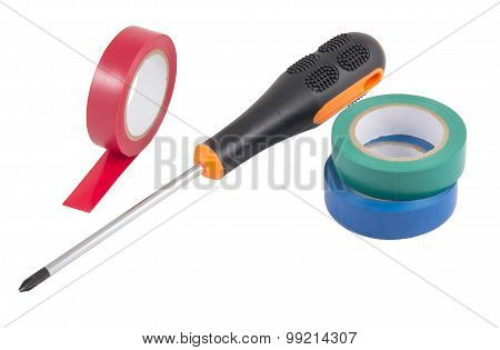 Insulating Tape With Screwdriver