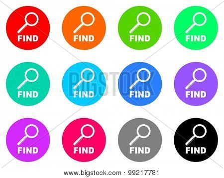 find flat design modern vector circle icons colorful set for web and mobile app isolated on white background