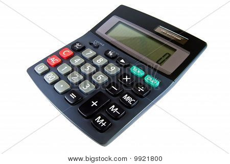 Black Calculator Isolated