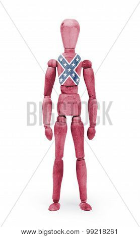 Jointed Wooden Mannequin Isolated On White Background