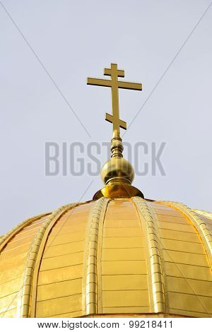 Russian Orthodox Cross on Dome