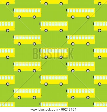 Pattern With Yellow Buses