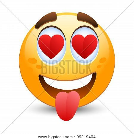 Vector Emoticon In Love