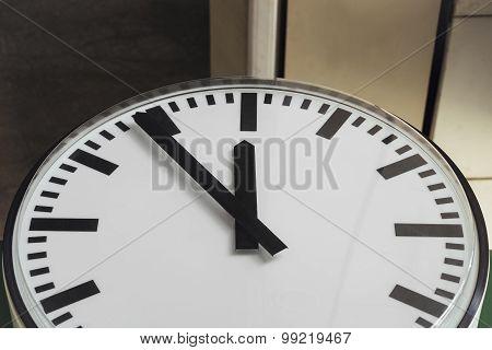 Clock At Train Station