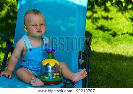 Charming Caucasian Baby Boy