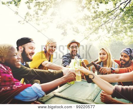 Diverse People Friends Hanging Out Concept