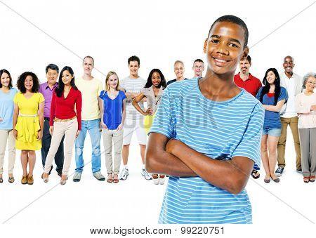 Diversity People Community Crowed Friendship Concept