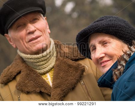 Old Loving Couple