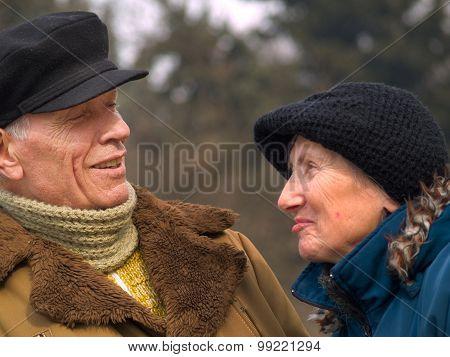 Senior Couple Outdoors