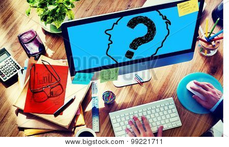 Confused Problem Question Worried Thought Concept