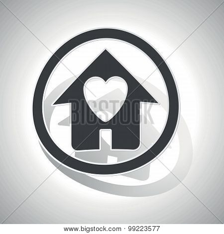 Love house sign sticker, curved