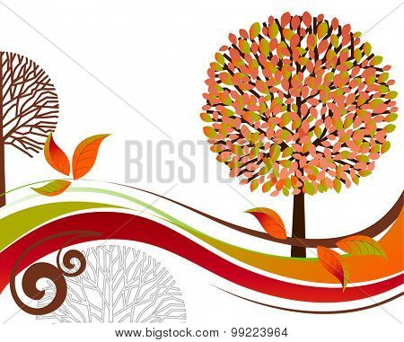 Fall tree and landscape