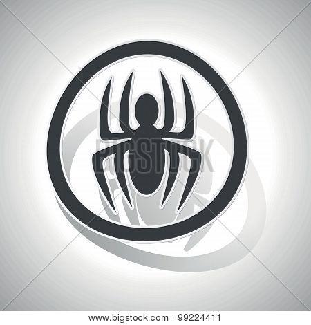 Spider sign sticker, curved