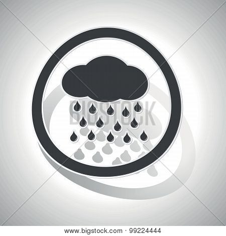 Rain sign sticker, curved