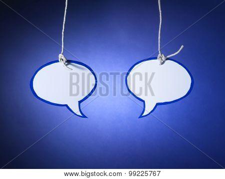 Speech Bubble Talk Pair - Stock Image